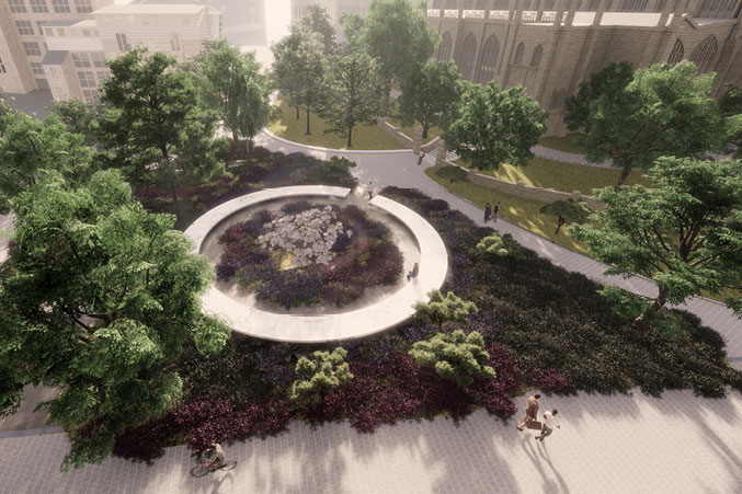An artist's impression of the Glade of Light memorial